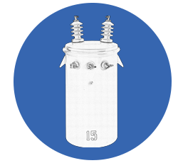 Single-Phase Conventional Overhead Transformer